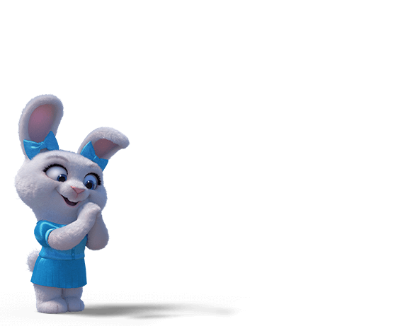 Coelhinha feliz